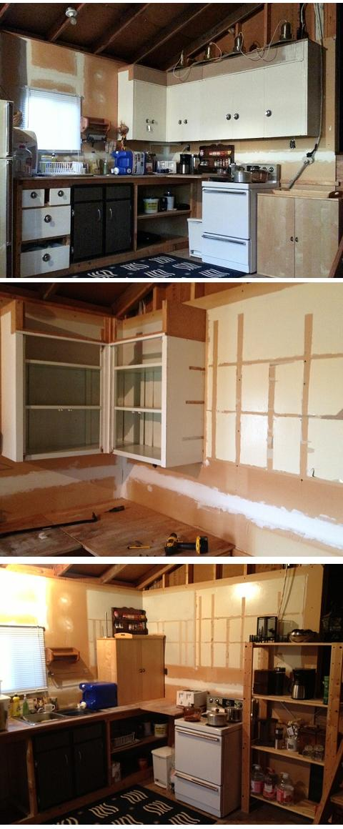 Kitchen Reno Cabinet Removal